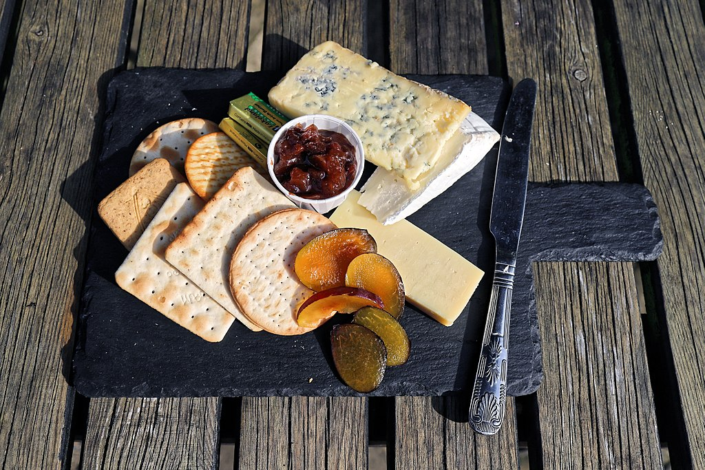 Cheese platter with Stilton